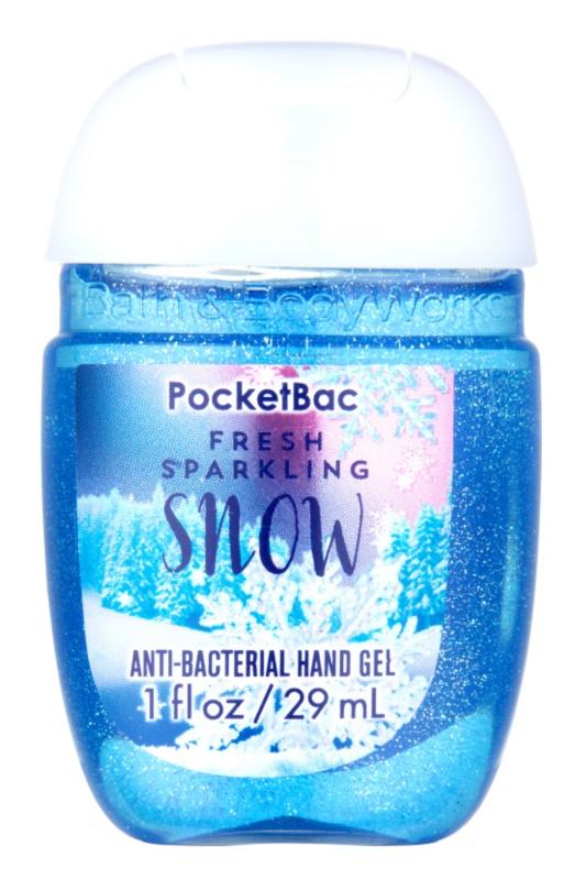 Bath & Body Works PocketBac Fresh Sparkling Snow Gel antibacterial pentru maini.