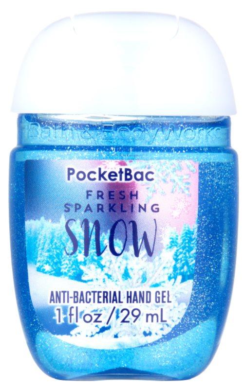 Bath & Body Works PocketBac Fresh Sparkling Snow Gel pentru maini.