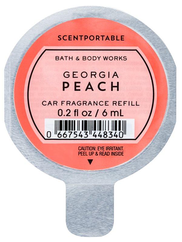 Bath & Body Works Georgia Peach odświeżacz do samochodu 6 ml napełnienie