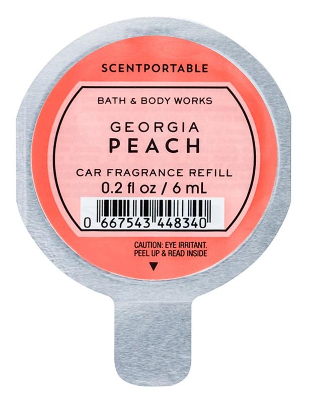 Bath & Body Works Georgia Peach vůně do auta 6 ml náhradní náplň