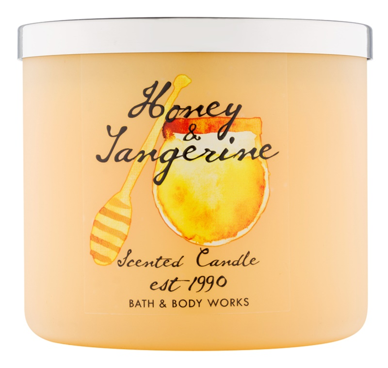Bath & Body Works Honey & Tangerine illatos gyertya  411 g