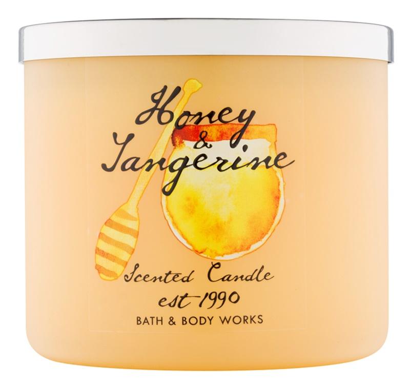 Bath & Body Works Honey & Tangerine vonná svíčka 411 g