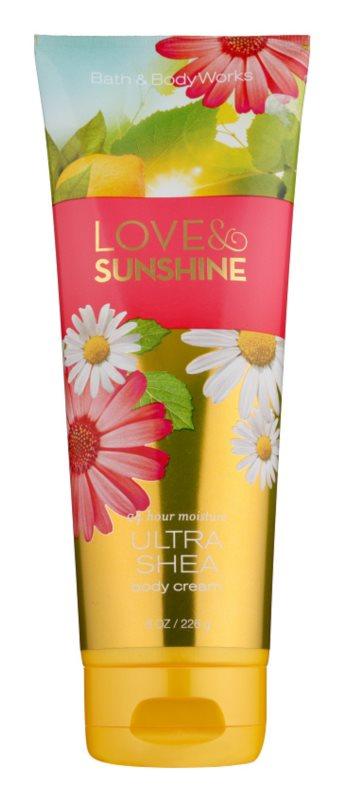 Bath & Body Works Love and Sunshine tělový krém pro ženy 226 g