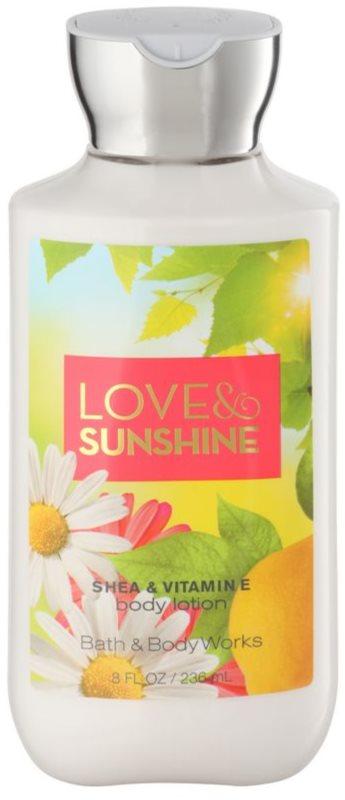 Bath & Body Works Love and Sunshine latte corpo per donna 236 ml