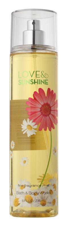 Bath & Body Works Love and Sunshine Bodyspray  voor Vrouwen  236 ml