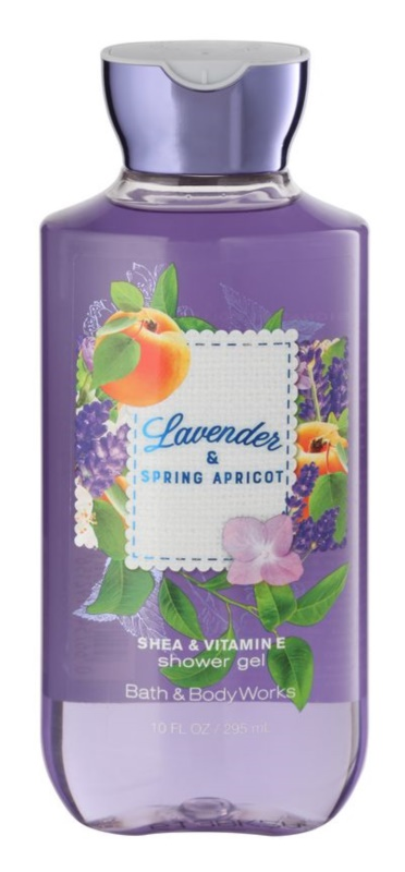 Bath & Body Works Lavander & Spring Apricot gel doccia per donna 295 ml