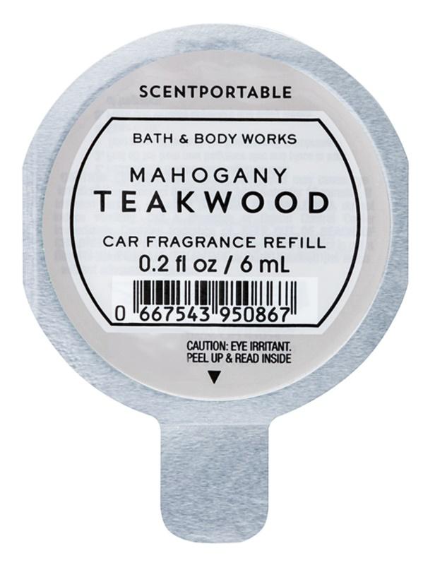 Bath & Body Works Mahogany Teakwood ambientador auto 6 ml recarga de substituição