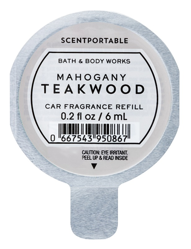 Bath & Body Works Mahogany Teakwood Deodorante per auto 6 ml ricarica
