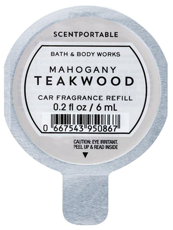 Bath & Body Works Mahogany Teakwood Deodorante per auto 6 ml ricarica
