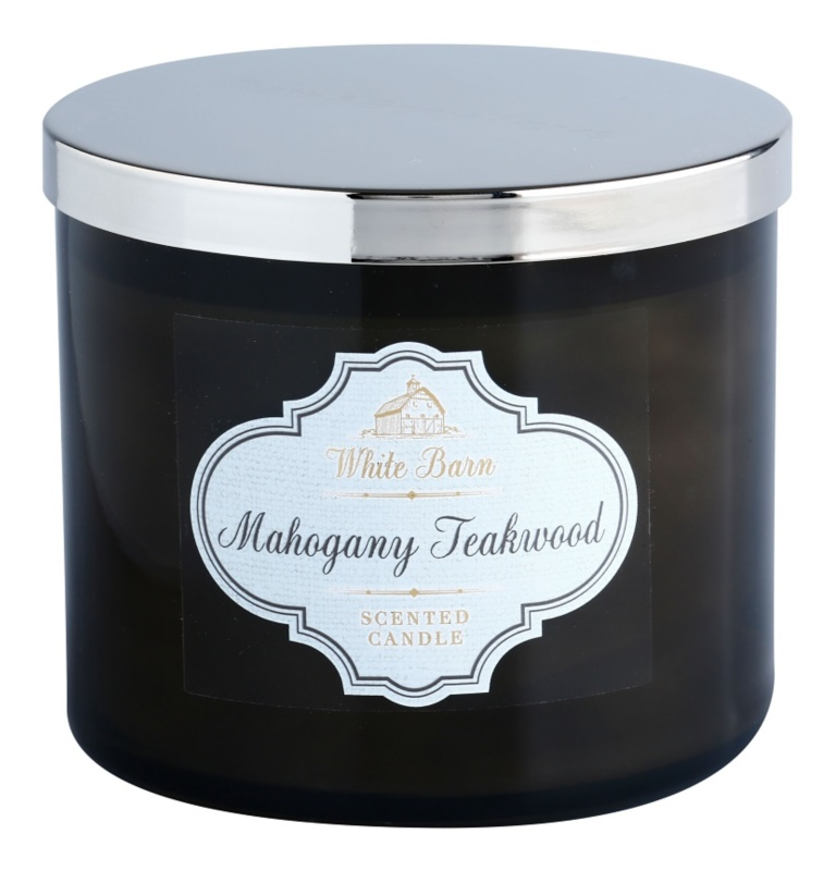 Bath & Body Works White Barn Mahogany Teakwood illatos gyertya  411 g