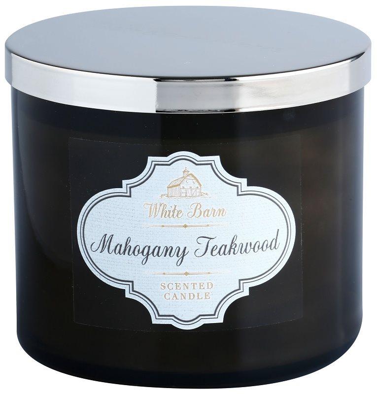 Bath & Body Works White Barn Mahogany Teakwood illatos gyertya  411 g