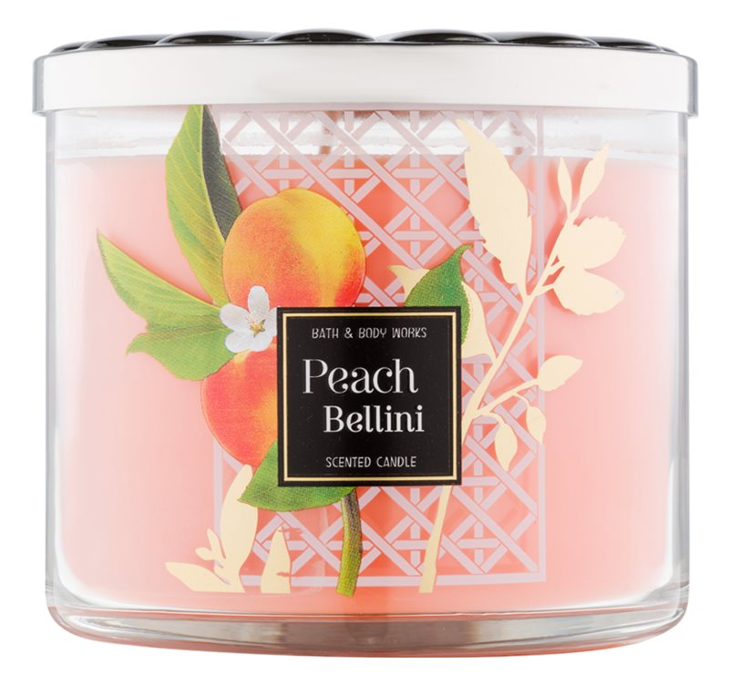 Bath & Body Works Peach Bellini vonná svíčka 411 g