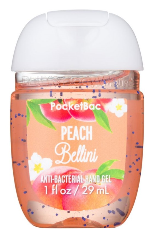 Bath & Body Works PocketBac Peach Bellini antibakteriální gel na ruce