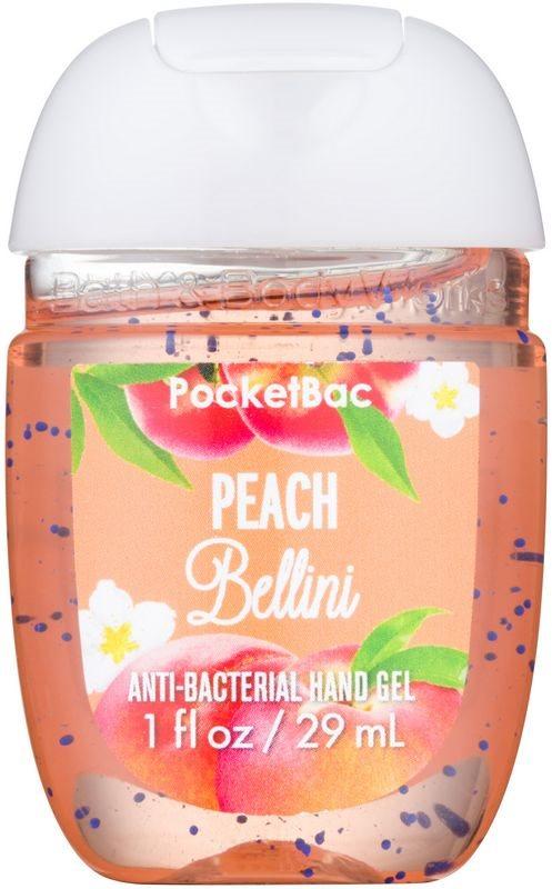 Bath & Body Works PocketBac Peach Bellini żel antybakteryjny do rąk