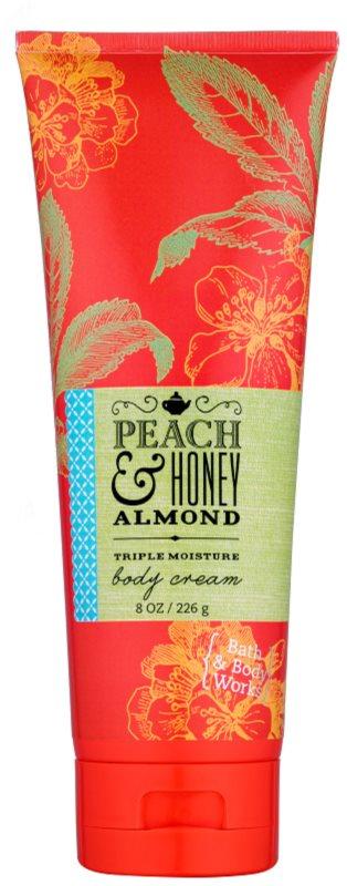 Bath & Body Works Peach & Honey Almond tělový krém pro ženy 226 g