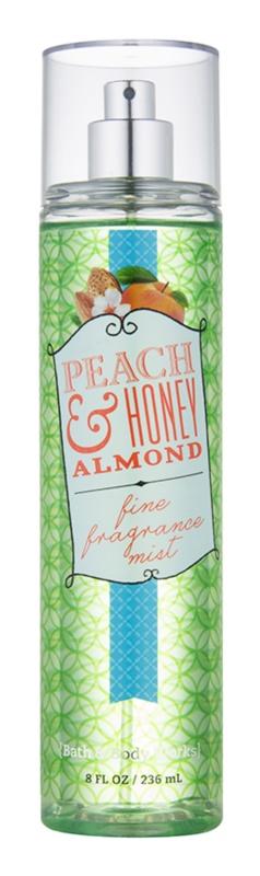 Bath & Body Works Peach & Honey Almond telový sprej pre ženy 236 ml