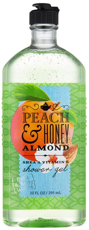 Bath & Body Works Peach & Honey Almond gel de duche para mulheres 295 ml