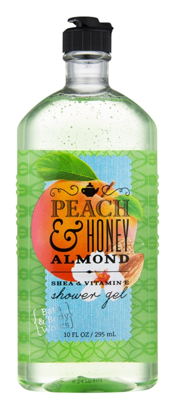 Bath & Body Works Peach & Honey Almond gel de dus pentru femei 295 ml