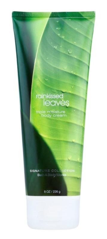 Bath & Body Works Rainkissed Leaves tělový krém pro ženy 226 g