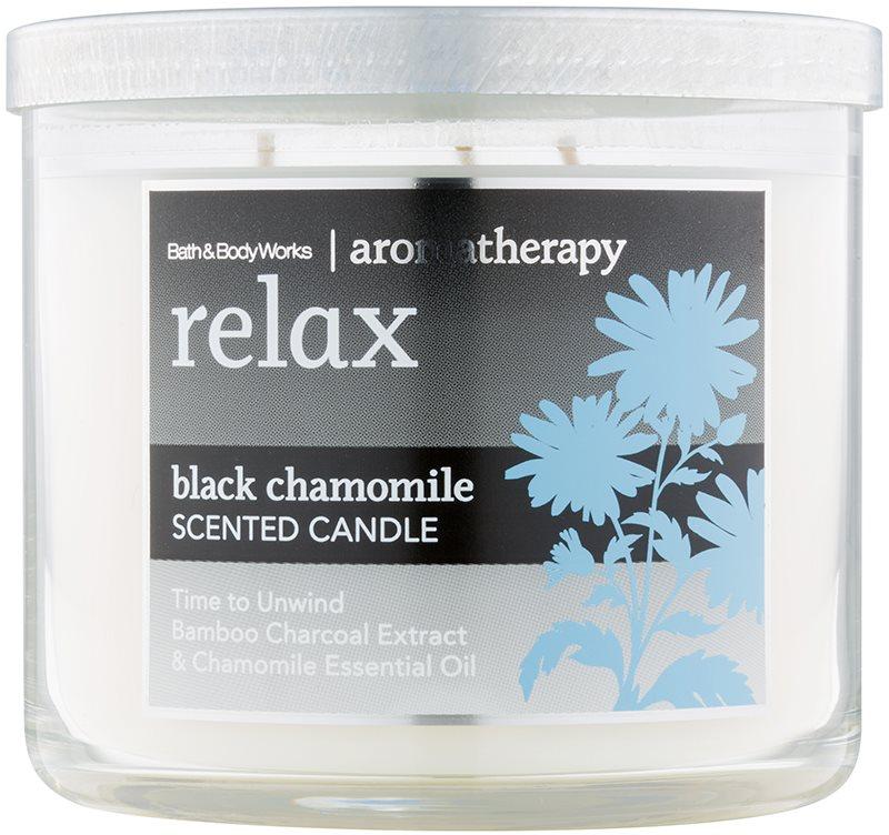 Bath & Body Works Relax Black Chamomile candela profumata 411 g