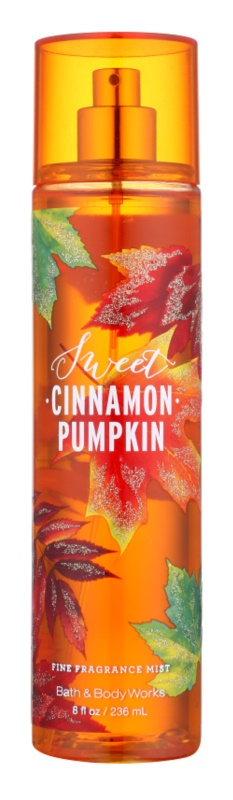 Bath & Body Works Sweet Cinnamon Pumpkin spray de corpo para mulheres 236 ml