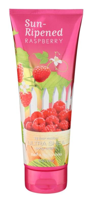 Bath & Body Works Sun Ripened Raspberry tělový krém pro ženy 236 ml