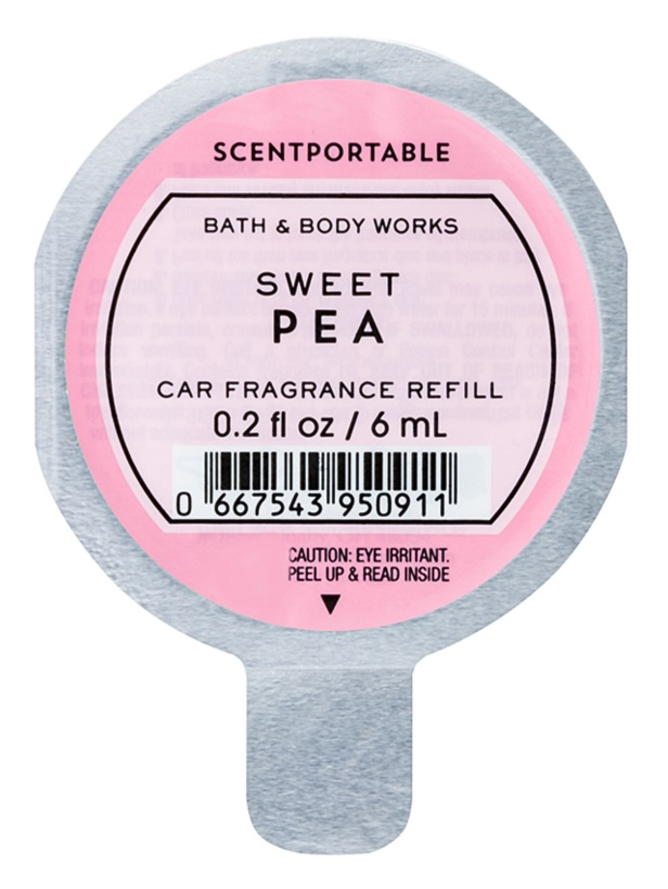 Bath & Body Works Sweet Pea Autoduft 6 ml Ersatzfüllung