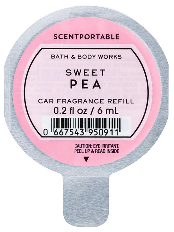 Bath & Body Works Sweet Pea vôňa do auta 6 ml náhradná náplň