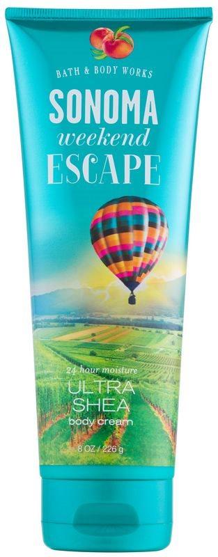 Bath & Body Works Sonama Weekend Escape tělový krém pro ženy 226 g