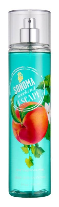 Bath & Body Works Sonama Weekend Escape Bodyspray  voor Vrouwen  236 ml