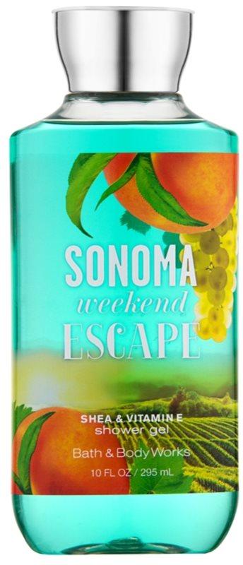 Bath & Body Works Sonama Weekend Escape gel de dus pentru femei 295 ml