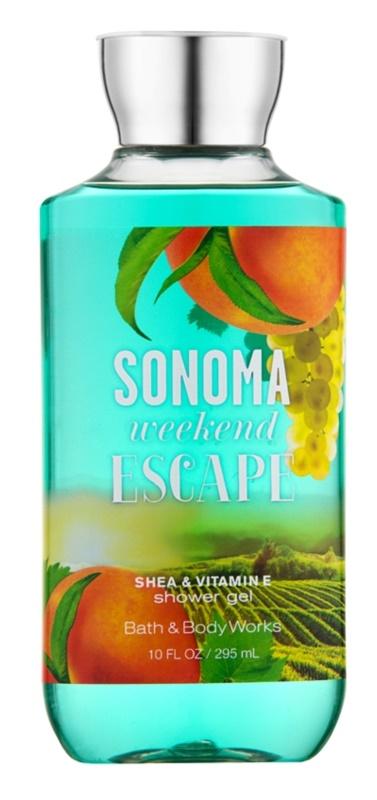 Bath & Body Works Sonama Weekend Escape sprchový gel pro ženy 295 ml