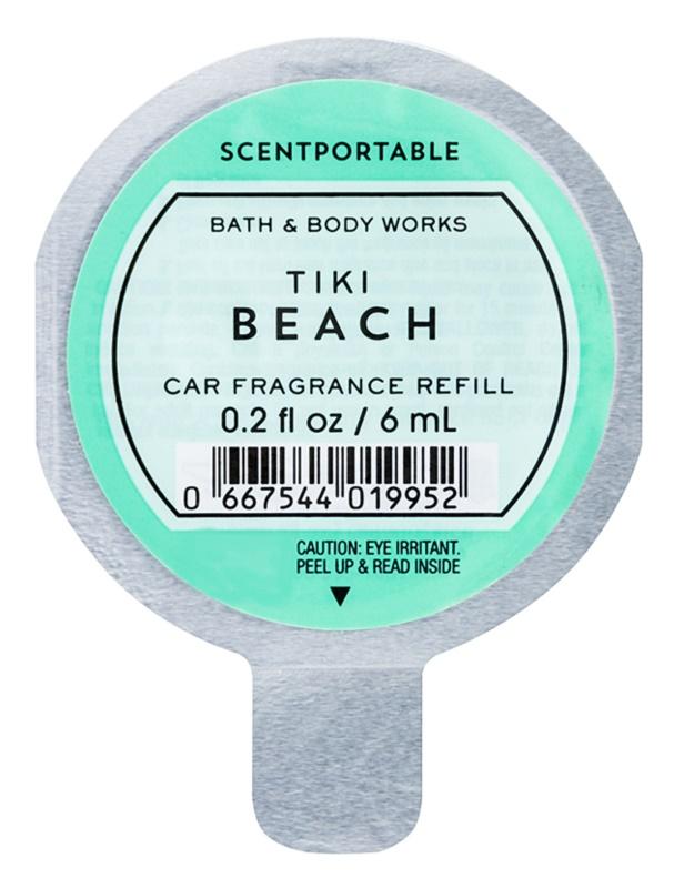 Bath & Body Works Tiki Beach Auto luchtverfrisser  6 ml Vervangende Vulling