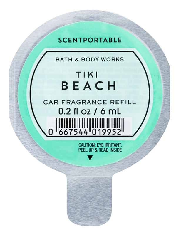 Bath & Body Works Tiki Beach vôňa do auta 6 ml náhradná náplň