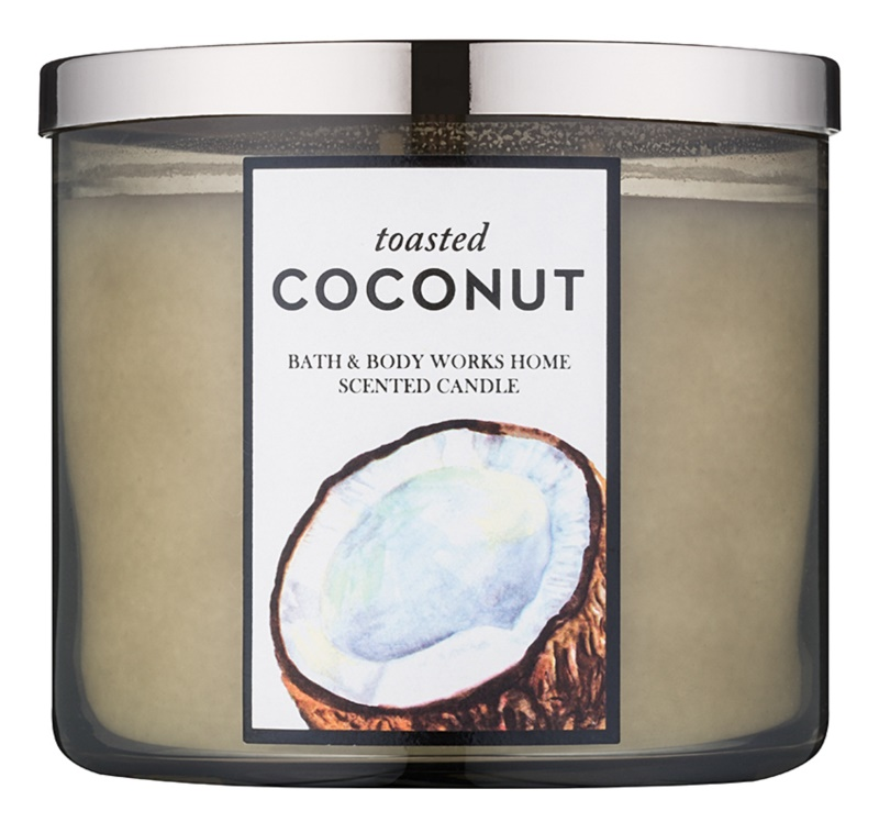Bath & Body Works Toasted Coconut candela profumata 411 g