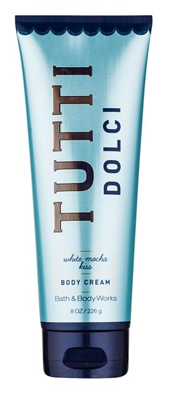 Bath & Body Works Tutti Dolci White Mocha Kiss crème corps pour femme 226 g