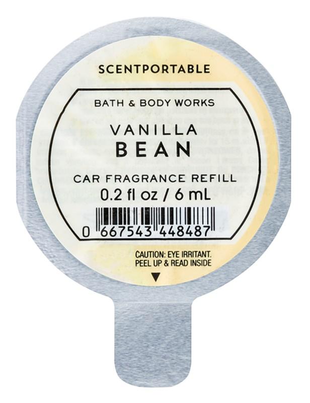 Bath & Body Works Vanilla Bean odświeżacz do samochodu 6 ml