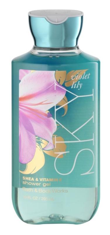 Bath & Body Works Violet Lily Sky Duschgel für Damen 295 ml
