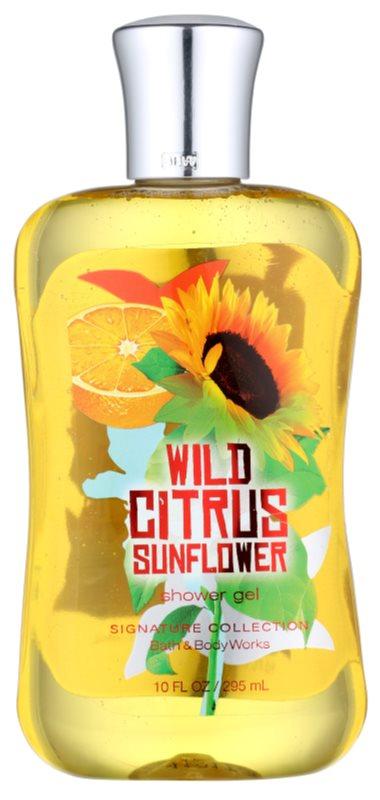 Bath & Body Works Wild Citrus Sunflower Duschgel für Damen 295 ml