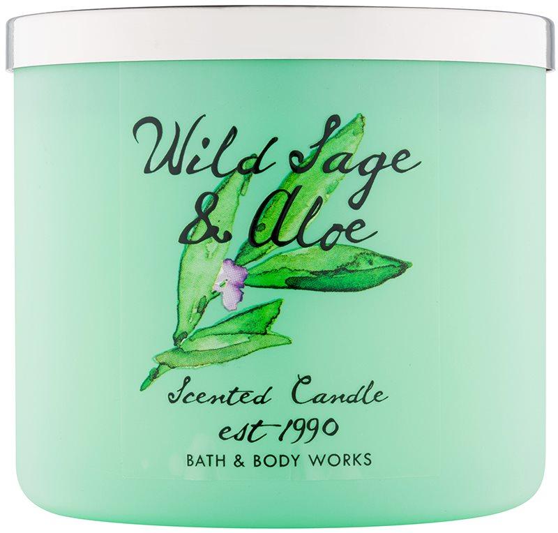Bath & Body Works Wild Sage & Aloe illatos gyertya  411 g