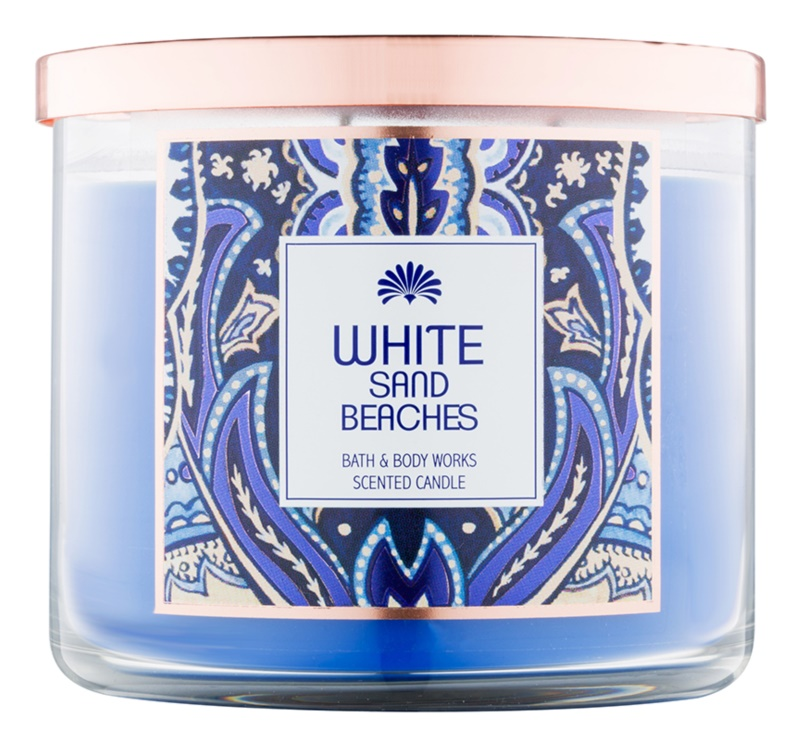 Bath & Body Works White Sand Beaches vonná svíčka 411 g