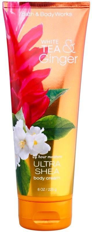 Bath & Body Works White Tea & Ginger krem do ciała dla kobiet 226 g z masłem shea