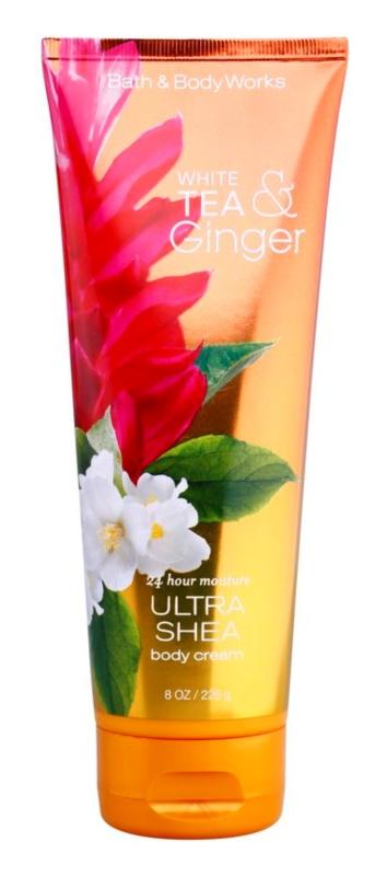 Bath & Body Works White Tea & Ginger telový krém pre ženy 226 g s bambuckým maslom