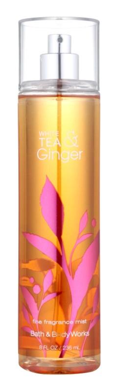 Bath & Body Works White Tea & Ginger tělový sprej pro ženy 236 ml