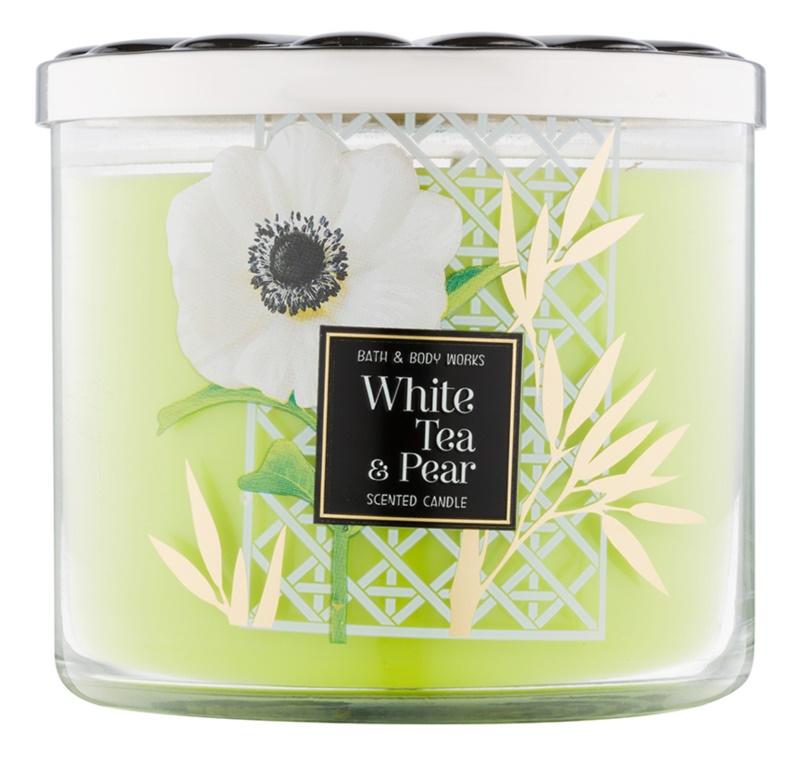 Bath & Body Works White Tea & Pear świeczka zapachowa  411 g