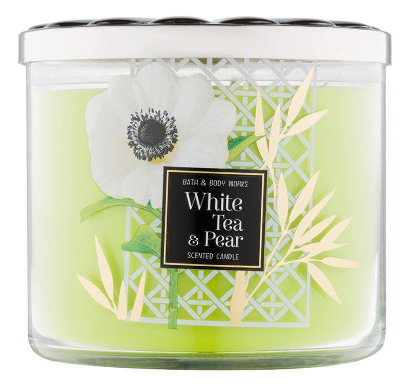 Bath & Body Works White Tea & Pear vela perfumado 411 g