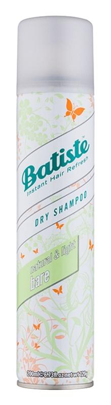 Batiste Fragrance Bare champú seco para absorber el exceso de grasa y refrescar el cabello