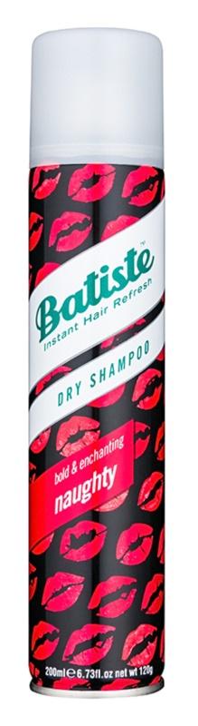 Batiste Naughty suchý šampón pre absorpciu prebytočného mazu a pre osvieženie vlasov