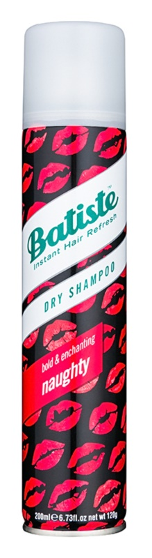 Batiste Naughty száraz sampon a  felesleges faggyú felszívódásáért és a haj frissítéséért