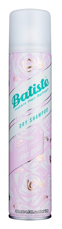 Batiste Rose Gold Droog Shampoo voor Absorbatie van Overtollig Vetaanmaak en voor Fris Haar